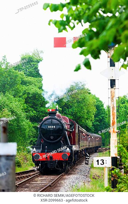 steam train, East Lancashire Railway, Lancashire and Greater Manchester, England