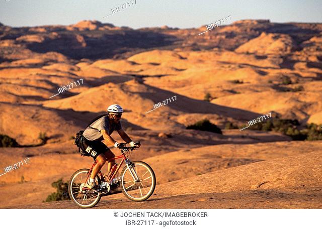USA, United States of America, Utah: mountainbiking, Slick Rock State Park near Moab