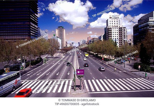 Spain, Madrid, Paseo de la Castellana