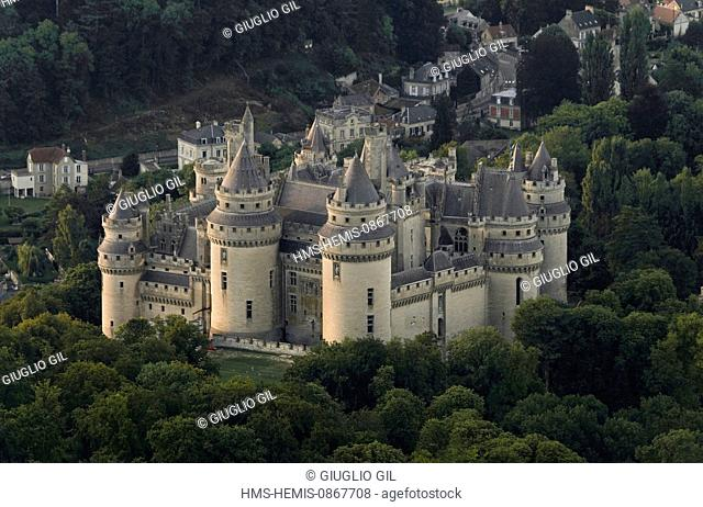 France, Oise, Pierrefonds, Pierrefonds castle run by Centre of National Monuments of France and listed building, built in the 14th century by Louis d'Orleans...