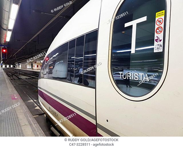 Spain. Europe. RENFE High Speed †‹†‹Train Series 103. On January 30, 2007 was presented the first high-speed train of the 103 series