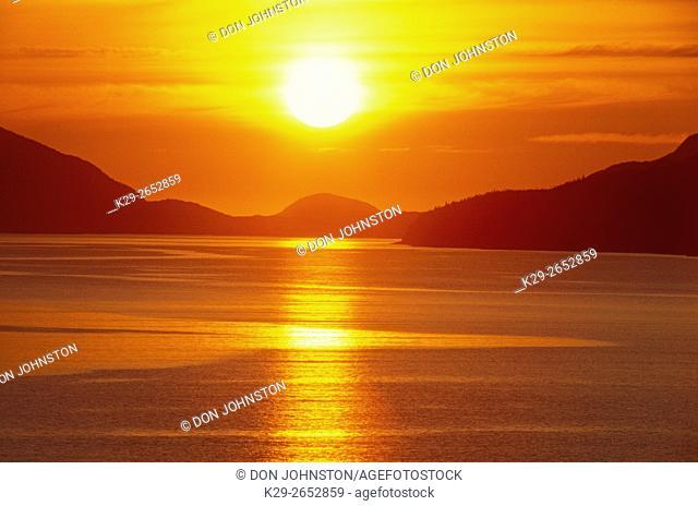 Sunrise over Eastport Bay, Newfoundland and Labrador, Canada