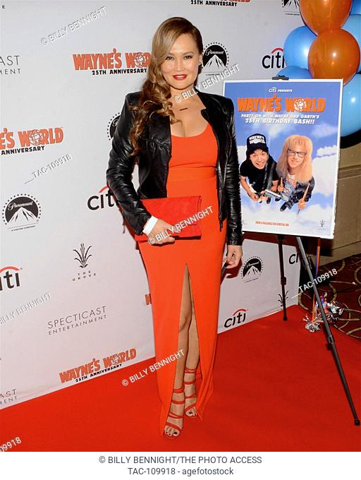 """Tia Carrere attends the """"""""Wayne's World"""""""" 25th Anniversary Panel Discussion at the Grove at Pacific Theaters on January 9, 2017 in Los Angeles, California"""