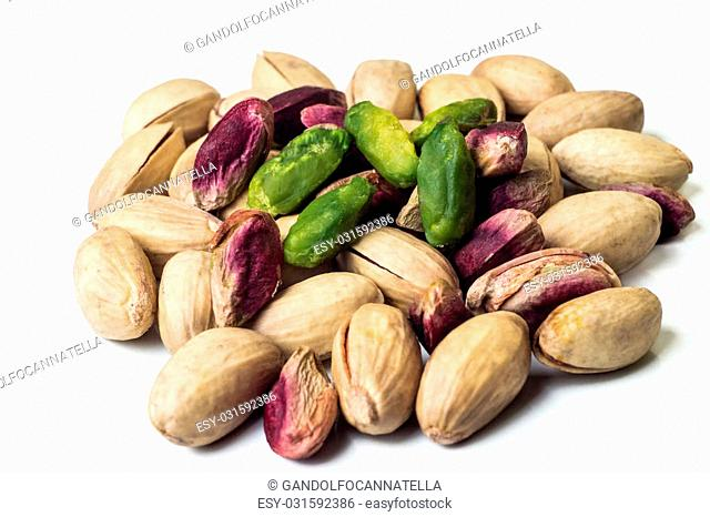 pistachios Bronte close up