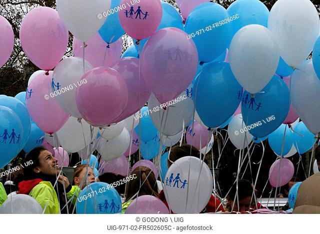 Protest against same-sex mariages in Paris