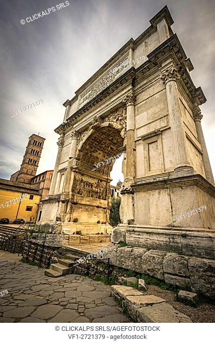 Roman Forum, Rome, Italy. The Arch of Titus