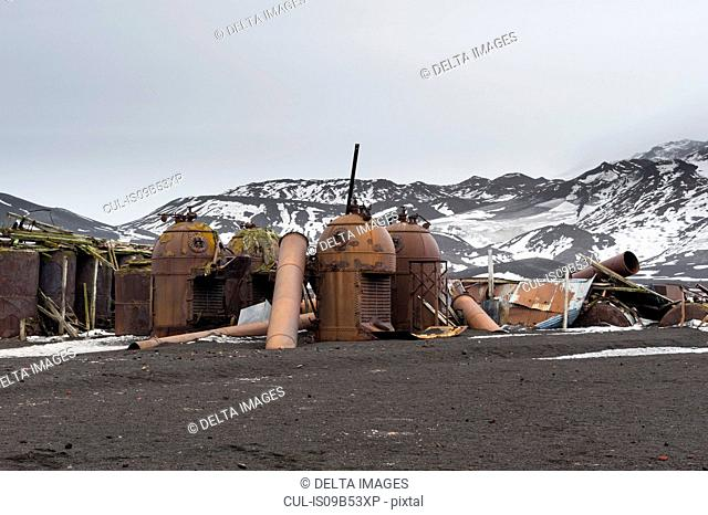 Old Norwegian Hektor whaling station, Deception Island, Antarctica