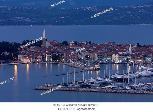 The marina in the evening, Izola, Coastal–Karst Statistical Region, Slovenia