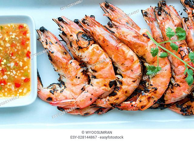 Grilled giant prawn Stock Photos and Images | age fotostock