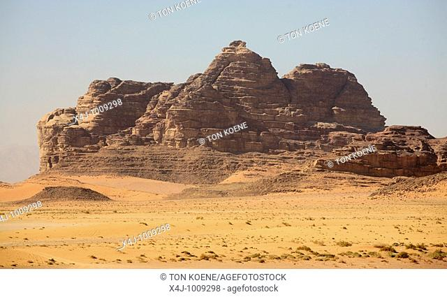 The scenery around Wadi Rum  The Bedouins have lived for thousands of years in the desert around Wadi Rum