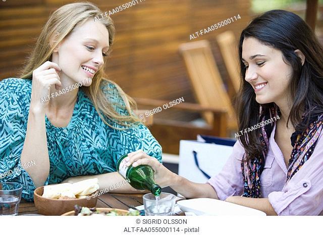 Friends together at restaurant