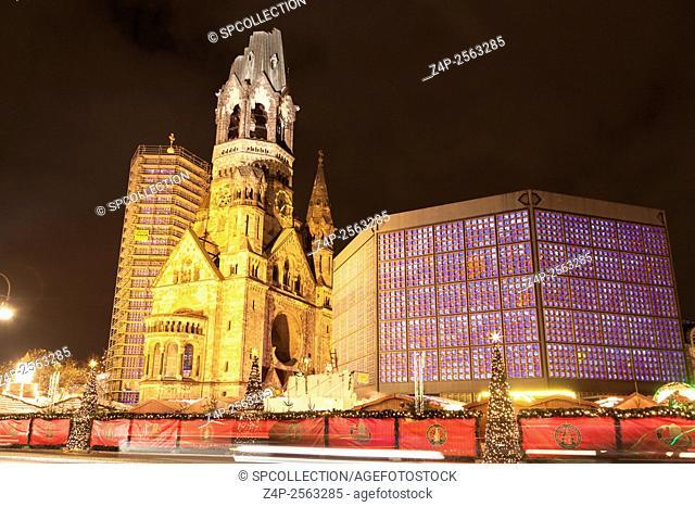 Christmas market at kurfuerstendamm in Berlin