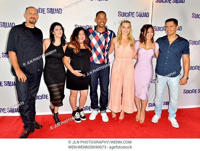 'Suicide Squad' Wynwood Block Party and Mural Reveal in Miami, Florida Featuring: David Ayer, Amanda Valdes, Didirok, Will Smith, Margot Robbie, Karen Fukuhara