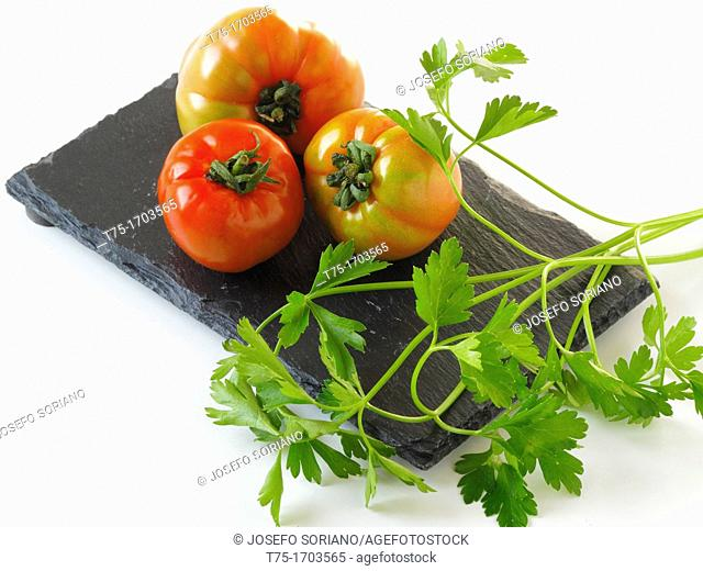 Tomatoes and parsley