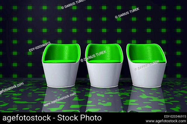 Future Clubchairs green white