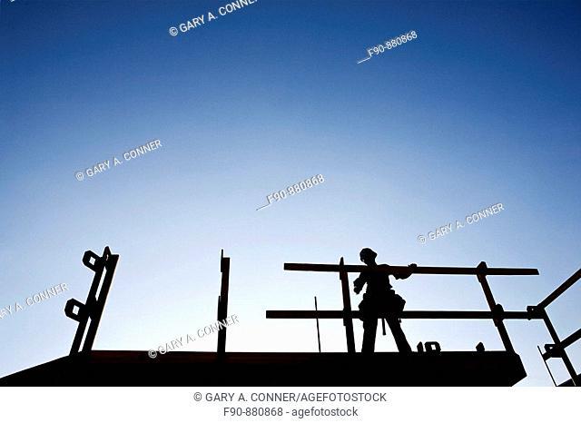 Carpenter silhouette condo construction Los Angeles CA