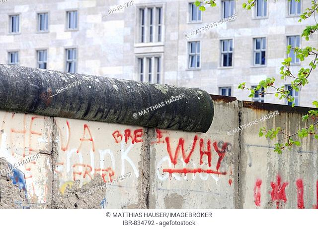 Original remains of the Berlin Wall, Niederkirchner Strasse, Berlin-Mitte, Central Berlin, Germany, Europe