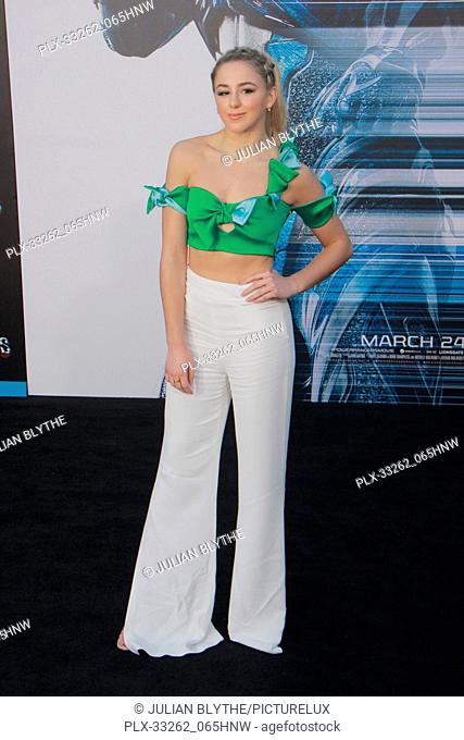 """Chloe Lukasiak 03/22/2017 """"""""Power Rangers"""""""" Premiere held at the Westwood Village Theater in Westwood, CA Photo by Julian Blythe / HNW / PictureLux"""