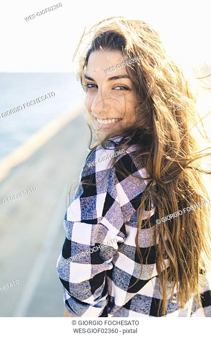 Young pretty woman wearing beach wear, portrait