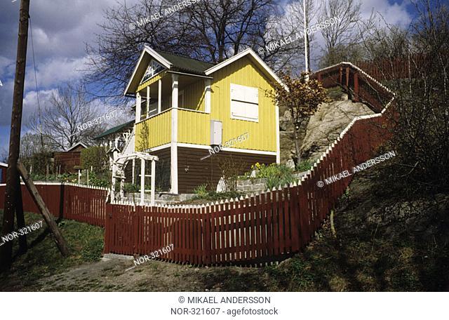 A house on a hillside