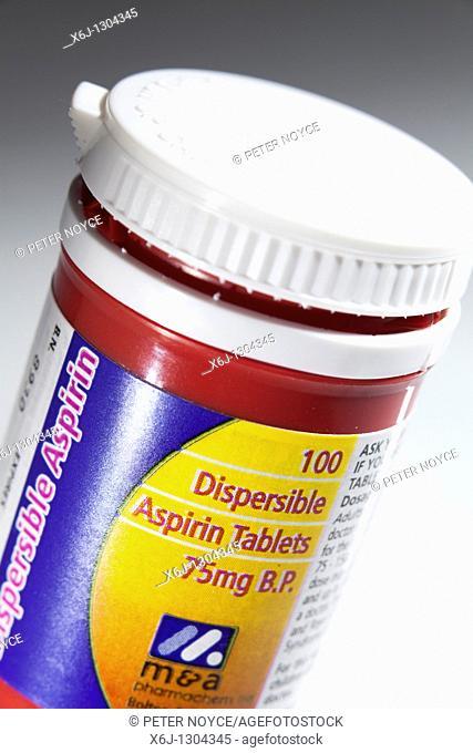 low dose 75g aspirin pills container
