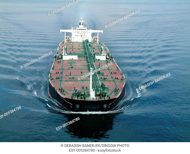 Very large crude oil carrier cargo ship in sea