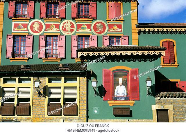 France, Rhone (69), Paul Bocuse restaurant in Collonges in the Mont d'Or Lyonnais region