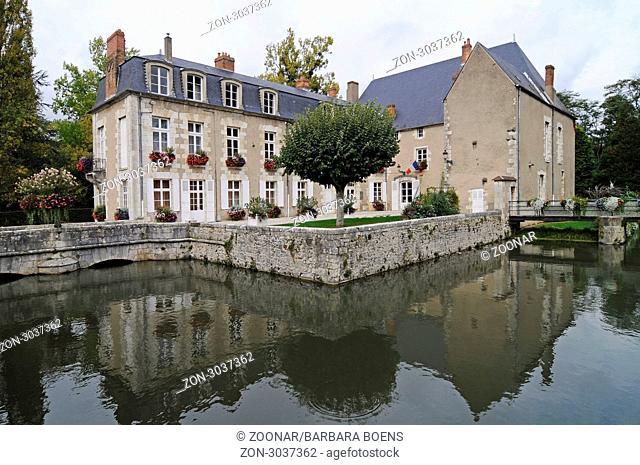 city hall, Briare, Departement Loiret, Centre, France, Europe, Rathaus, Briare, Departement Loiret, Centre, Frankreich, Europa