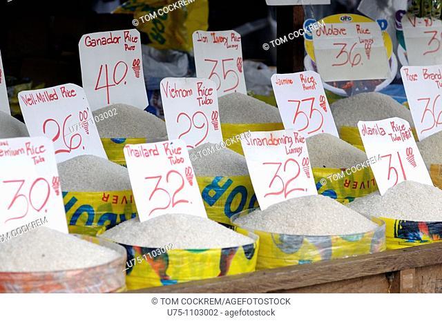 grain stall carbon market downtown cebu city philippines