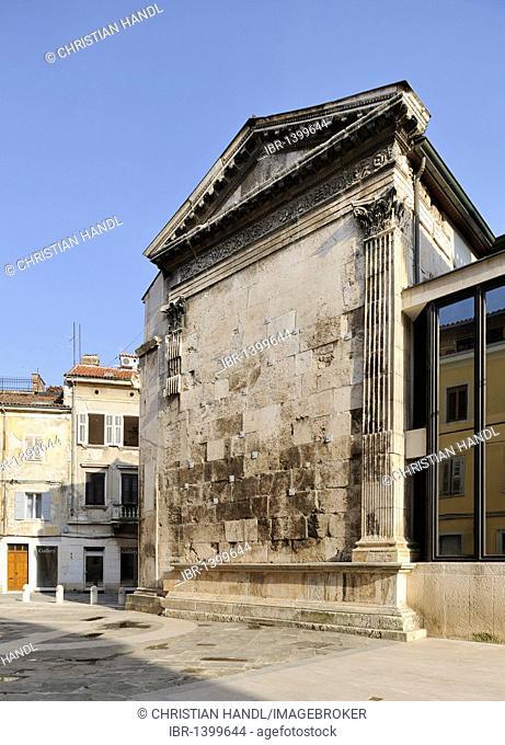 Temple of Roma and Augustus in Pula, Croatia, Europe