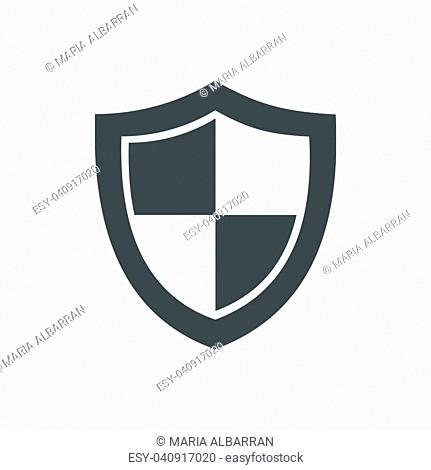 High security shield icon on a white background