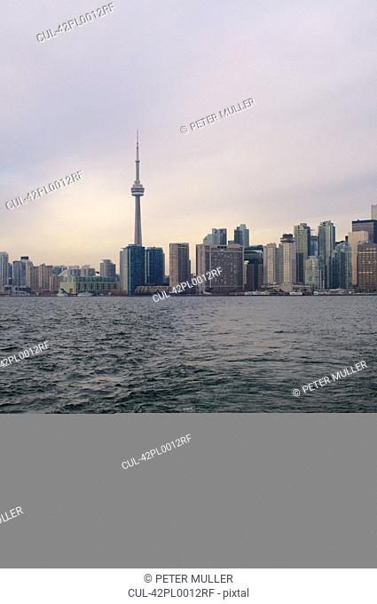Toronto city skyline on water