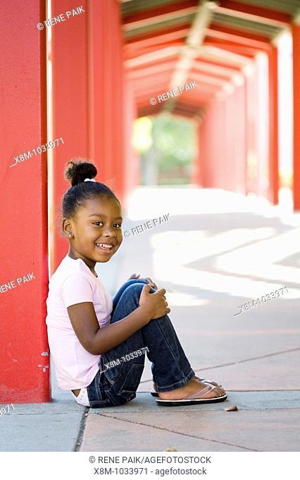 Smiling little black girl