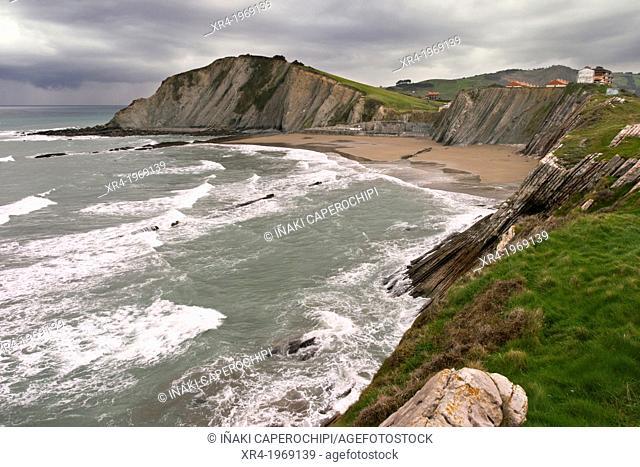 Itzurun beach, Zumaia - Deba - Mutriku Flysch, Deba, Gipuzkoa, Guipuzcoa, Basque Country, Spain
