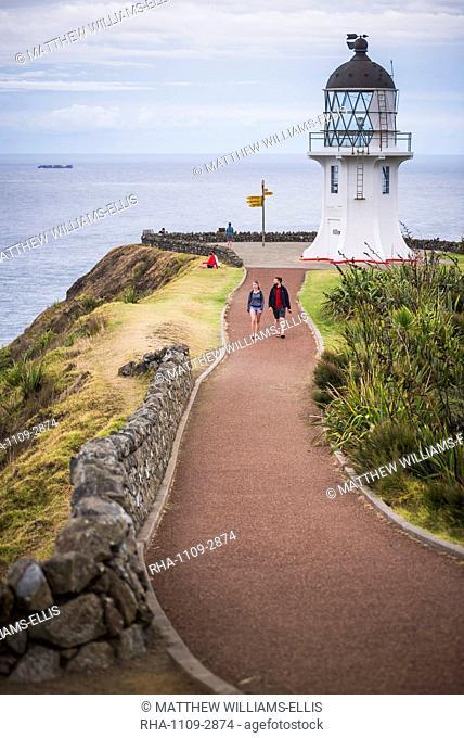 Cape Reinga Lighthouse (Te Rerenga Wairua Lighthouse), Aupouri Peninsula, Northland, New Zealand, Pacific