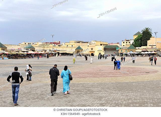 Lahdim square, Meknes, Morocco, North Africa
