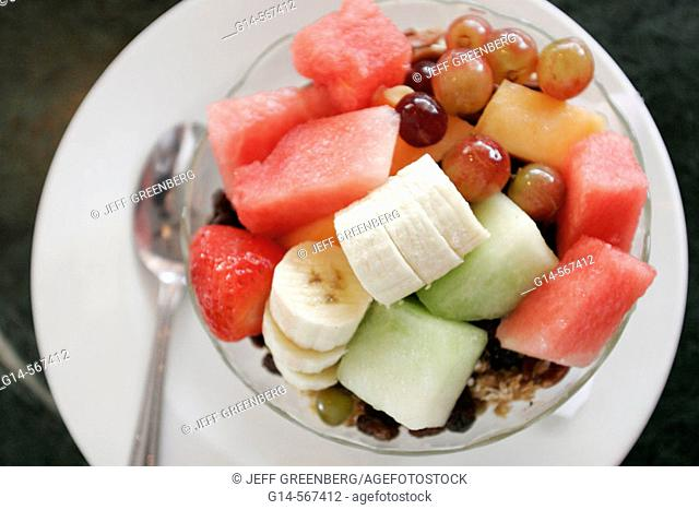 Fruit bowl. News Café, Miami Beach, Florida. USA
