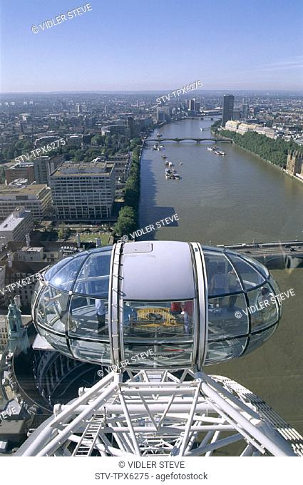 Capsule, City, England, United Kingdom, Great Britain, Holiday, Landmark, London, London eye, Skyline, Tourism, Travel, Vacation