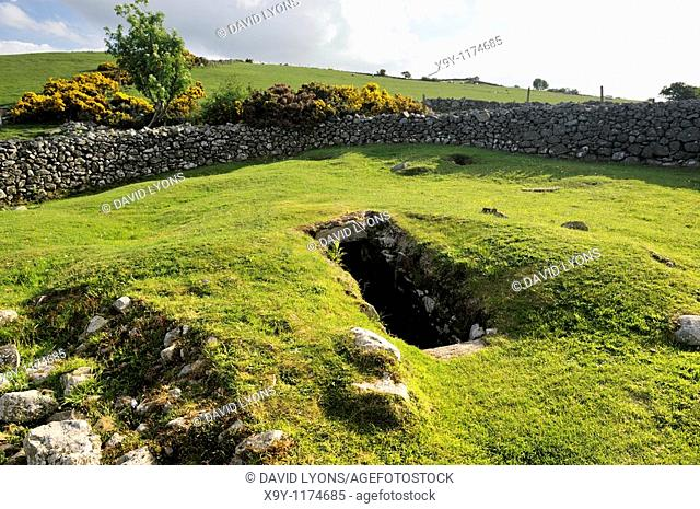 Drumena Cashel, near Castlewellan, County Down, Northern Ireland  Entrance to the souterrain inside ancient fortified homestead