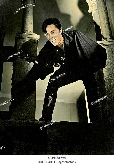 The French actor Alain Delon in a scene from the film The Black Tulip (la Tulipe noire), 1964