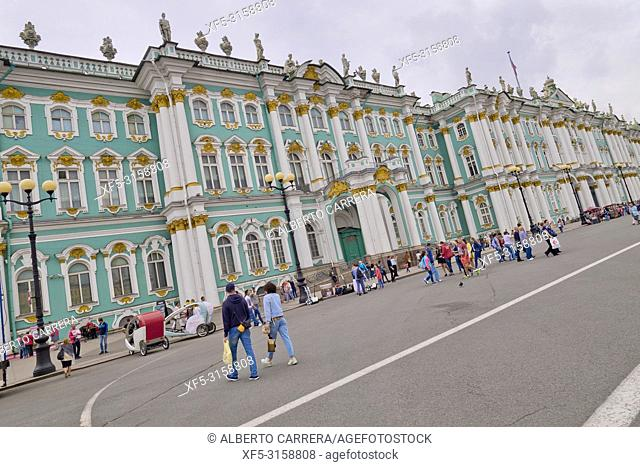 Winter Palace, Hermitage Musseum, Palace Square, Saint Petersburg, UNESCO World Heritage, Russia
