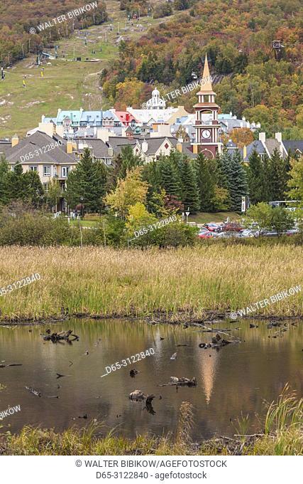Canada, Quebec, The Laurentians, Mont Tremblant, Mont-Tremblant Ski Village, autumn