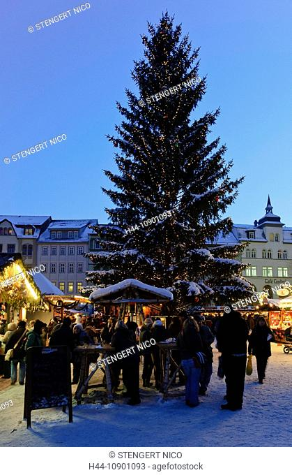 Evening, dusk, evening mood, Advent, Advent time, outside, lighting, investigation, blue, the federal republic, Christmas fair, dusk, twilight, Germany, outdoor