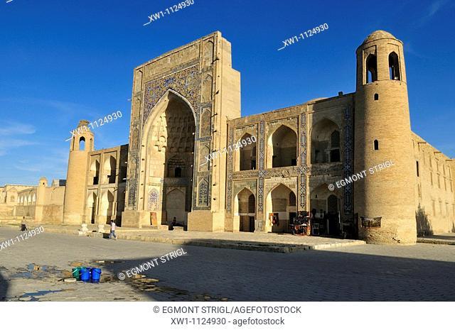 Abdulaziz Chan, Khan Madrassah, Bukhara, Buchara, Unesco World Heritage Site, Uzbekistan, Central Asia