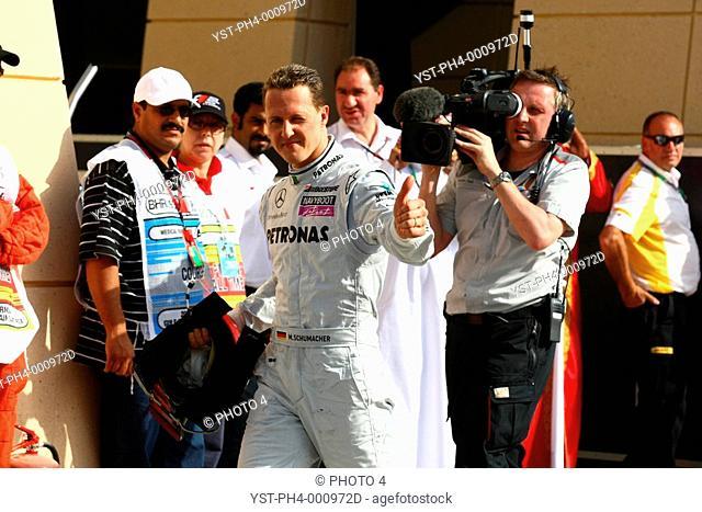 Michael Schumacher, Mercedes GP MGP W01, Grand Prix, 14/03/10, Bahren, Persian Gulf