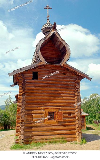 Kazan church of the Ylym jail, 1679  'Taltsa's' Talzy - Irkutsk architectural and ethnographic museum  Baikal, Siberia, Russia