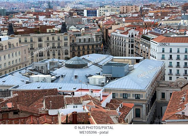 Roof of Congreso de los Diputados, view from above  Comunidad de Madrid, Spain, Europe