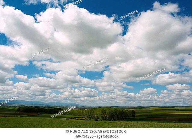 Clouds. Castile, Spain
