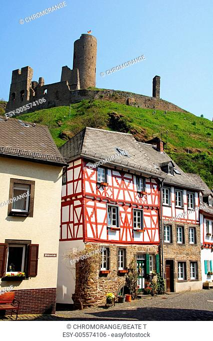 Half-timbered houses in Monreal in the Eifel