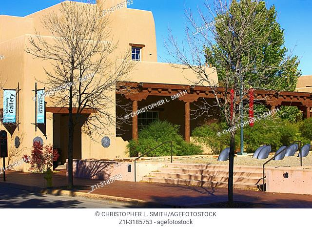 The Convention Center on W Marcy Street in downtown Santa Fe, New Mexico, USA
